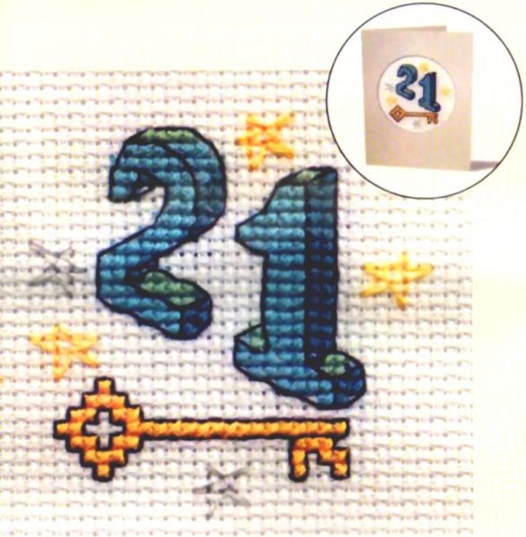 Twenty One Card Cross Stitch Kit